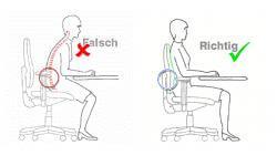 Ergonomischer bürostuhl grafik  Ergonomie am Arbeitsplatz - Alles nötige Wissen und die ...